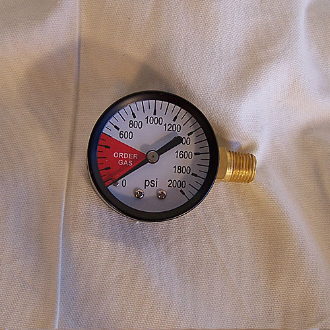 CO2 Regulator Gauge LHT